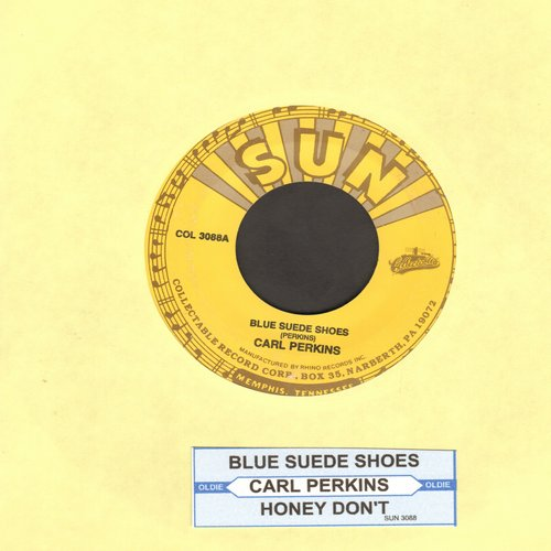 Perkins, Carl - Blue Suede Shoes/Honey Don't (authentic-looking re-issue) - NM9/ - 45 rpm Records