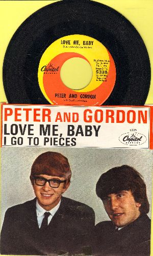 Peter & Gordon - I Go To Pieces/Love Me, Baby (with picture sleeve)(minor wol/woc) - NM9/EX8 - 45 rpm Records