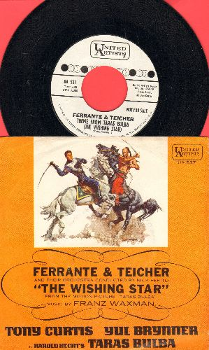 Ferrante & Teicher - Theme From Taras Bulba (The Wishing Star)/Theme From The Eleventh Hour (DJ advance pressing with picture sleeve) - NM9/NM9 - 45 rpm Records