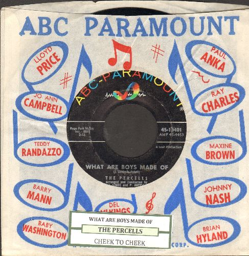 Percells - What Are Boys Made Of/Cheek To Cheek (with juke box label and ABC-Paramount company sleeve) - NM9/ - 45 rpm Records