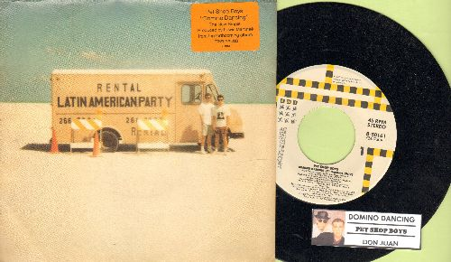 Pet Shop Boys - Domino Dancing/Don Juan (with juke box label and picture sleeve) - M10/EX8 - 45 rpm Records