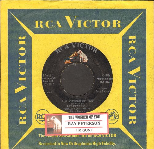 Peterson, Ray - The Wonder Of You/I'm Gone (with juke box label and RCA company sleeve) - VG7/ - 45 rpm Records