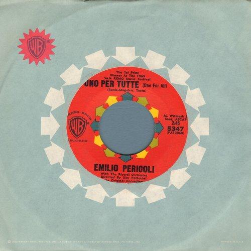 Pericoli, Emilio - Uno Per Tutte (One For All) (WINNER 1963 San Remo Music Festival)/Sull'acqua (with vintage Warner Brothers company sleeve) - M10/ - 45 rpm Records