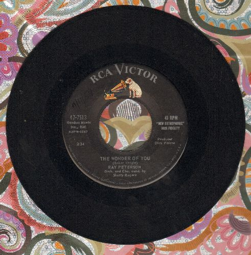Peterson, Ray - The Wonder Of You/I'm Gone - EX8/ - 45 rpm Records
