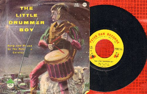 Peter Pan Caroleers - The Little Drummer Boy/Adeste Fideles (with picture sleeve) - NM9/VG7 - 45 rpm Records