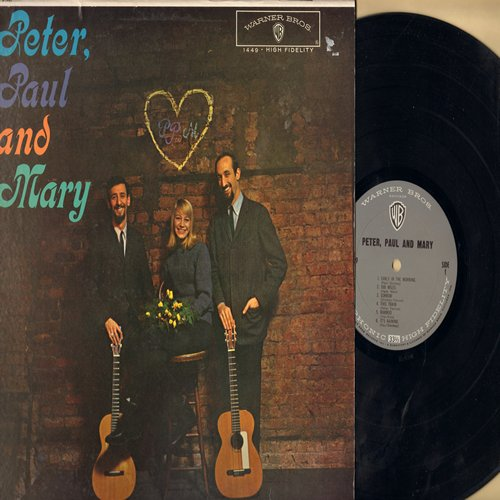 Peter, Paul & Mary - Peter, Paul & Mary: 500 Miles, If I Had A Hammer, Where Have All The Flowers Gone (Vinyl MONO LP record) - NM9/NM9 - LP Records