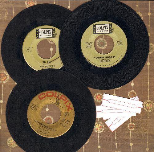 Petersen, Paul - 3-Pack of first issue 45s includes hits My Dad, Goody Goody and Keep Your Love Locked. Shipped in plain paper sleeves with 4 blnak juke box labels. - EX8/ - 45 rpm Records