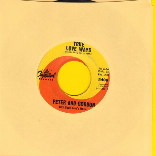 Peter & Gordon - True Love Ways (FANTASTIC cover version of the Buddy Holly Classic!)/If You Wish   - EX8/ - 45 rpm Records