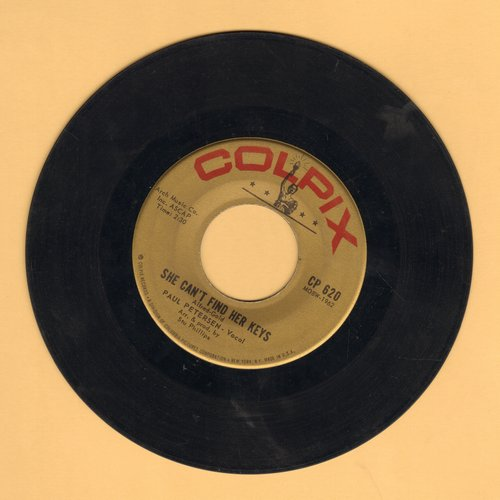 Petersen, Paul - She Can't Find Her Keys/Very Unlikely (duet with Shelley Fabares)  - VG6/ - 45 rpm Records