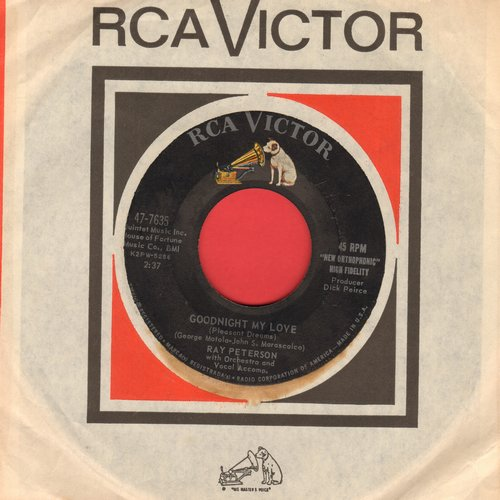 Peterson, Ray - Goodnight My Love/Till Then (with RCA company sleeve) - EX8/ - 45 rpm Records