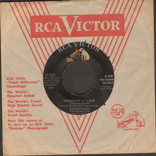 Peterson, Ray - Goodnight My Love/Till Then (with RCA company sleeve) - NM9/ - 45 rpm Records