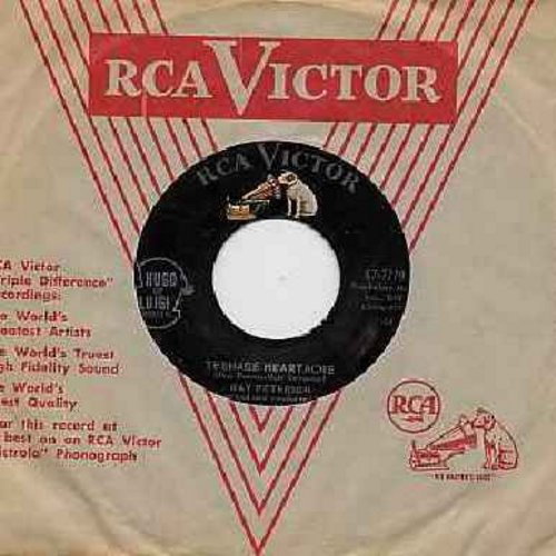 Peterson, Ray - Teenage Heartache/I'll Always Want You Near (with vintage RCA company sleeve) - EX8/ - 45 rpm Records