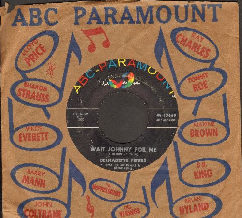 Peters, Bernadette - Wait Johnny For Me/We'll Start The Party Again (with vintage ABC-Paramount company sleeve) - VG7/ - 45 rpm Records