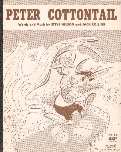 Disney - Peter Cottontail - Vintage SHEET MUSIC for the beloved Easter Themed Children's Song - EX8/ - Sheet Music