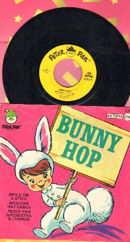 Peter Pan Players & Orchestra - Bunny Hop/Apple On A Stick/Mexican Hat Dance (vinyl EP record with picture sleeve) - EX8/EX8 - 45 rpm Records