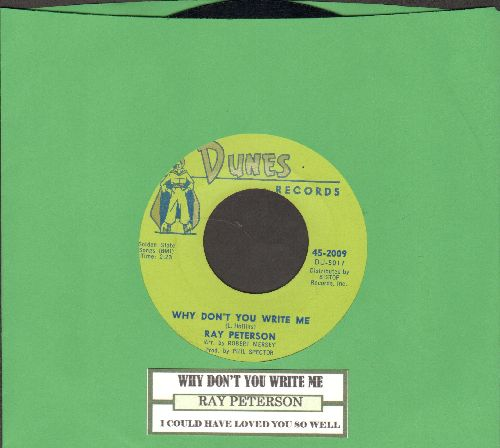 Peterson, Ray - Why Don't You Write Me/I Could Have Loved You So Well - EX8/ - 45 rpm Records