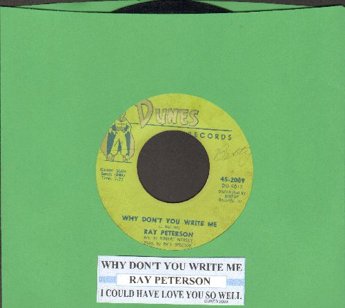 Peterson, Ray - Why Don't You Write Me/I Could Have Loved You So Well (with juke box label) - VG7/ - 45 rpm Records