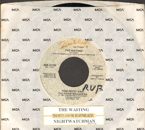Petty, Tom & The Heartbreakers - The Waiting/Nightwatchman (with juke box label and MCA company sleeve) - EX8/ - 45 rpm Records