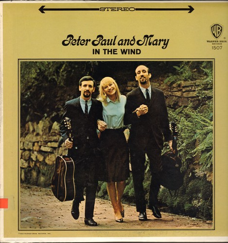 Peter, Paul & Mary - In The Wind: Blowin' In The Wind, Very Last Day, Polly Von, Stewball, Freight Train (Vinyl STEREO LP record) - NM9/NM9 - LP Records