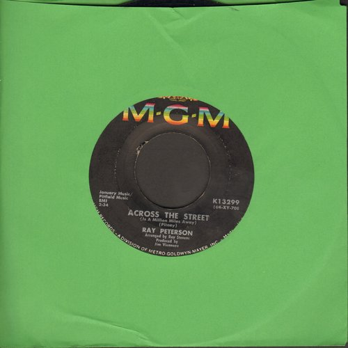 Peterson, Ray - Across The Street/When I Stop Dreaming - VG7/ - 45 rpm Records