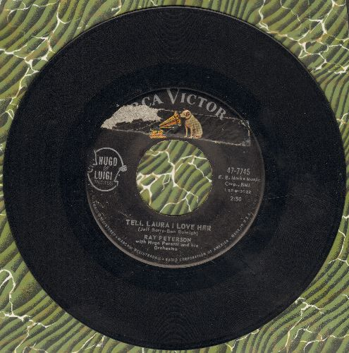 Peterson, Ray - Tell Laura I Love Her/Wedding Day - VG7/ - 45 rpm Records
