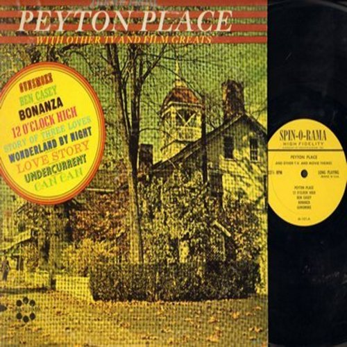 Peyton Place - Theme From Peyton Place with Other TV and Film Greats: Ben Casey, Gunsmoke, Undercurrent, Can Can, 12 O'Clock High, Bonanza (Vinyl MONO LP record) - M10/VG7 - LP Records