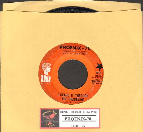 Phoenix-70 - I Heard It Through The Grapevine/Goin' On (RARE DJ advance pressing with juke box label) - EX8/ - 45 rpm Records