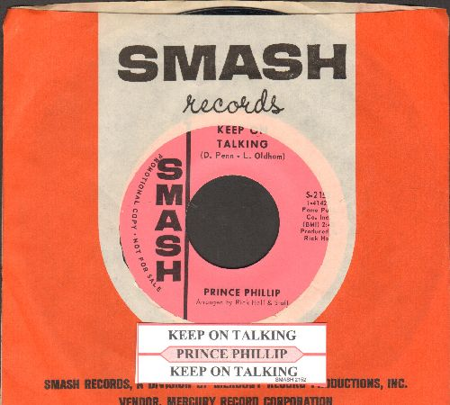 Prince Phillip - Keep On Talking (RARE double-A-sided DJ advance pressing with juke box label and Smash company sleeve) - M10/ - 45 rpm Records