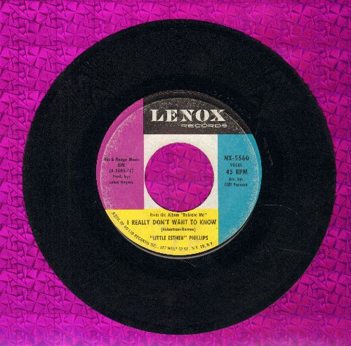 Phillips, Esther - I Really Don't Want To Know/Am I That easy To Forget - EX8/ - 45 rpm Records