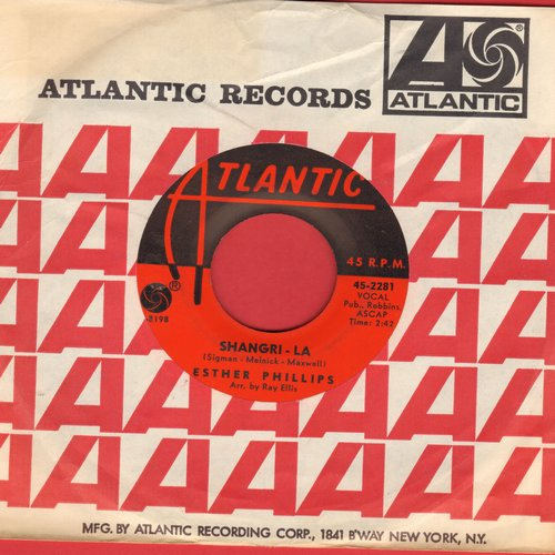 Phillips, Esther - Shangri-La/And I Love Him (with vintage Atlantic company sleeve) - NM9/ - 45 rpm Records