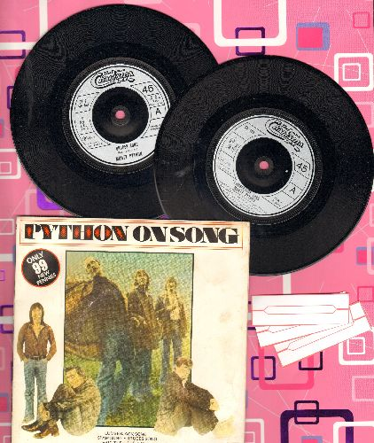 Monty Python - Python On Song: Luberjack Song/Spam Song/Bruce's Song/Eric The Half A Bee (2 vinyl 45rpm records in gate-fold cover, Britih Pressing) - NM9/VG7 - 45 rpm Records