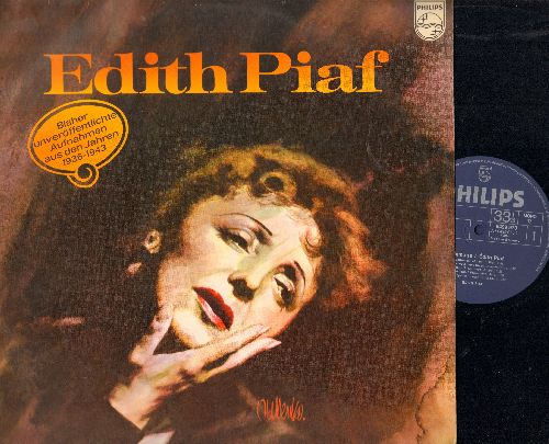 Piaf, Edith - Homage a Edith Piaf - Previously unpublished recordings from 1936-1943: 2 vinyl MONO LP records in gate-fold cover, German Pressing. - NM9/EX8 - LP Records
