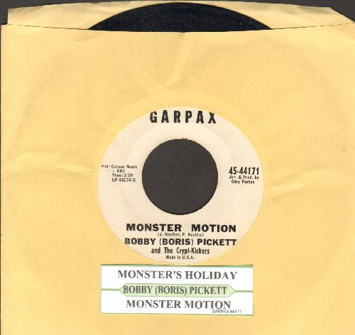 Pickett, Bobby (Boris) - Monsters' Holiday/Monster Motion (RARE follow-up to novelty hit Monster Mash with uke box labels!) (wol) - VG7/ - 45 rpm Records