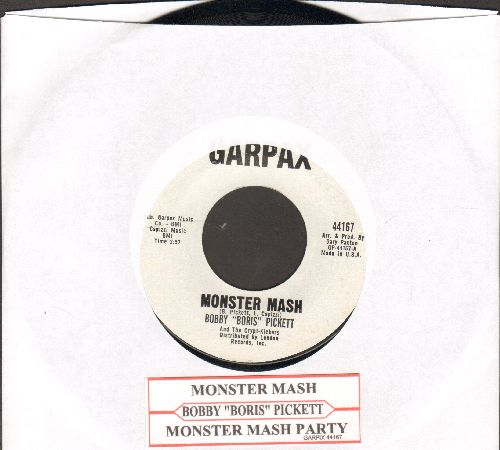 Pickett, Bobby (Boris) & The Crypt Kickers - Monster Mash/Monster Mash Party (Garpax white label with original juke box label) - NM9/ - 45 rpm Records