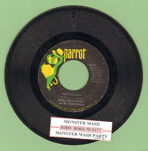 Pickett, Bobby (Boris) & The Crypt Kickers - Monster Mash/Monster Mash Party (Parrot label) - VG7/ - 45 rpm Records