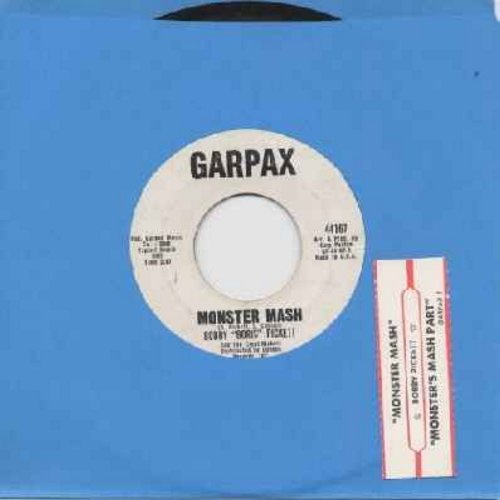 Pickett, Bobby (Boris) & The Crypt Kickers - Monster Mash/Monster Mash Party (Garpax white label with original juke box label) - VG7/ - 45 rpm Records