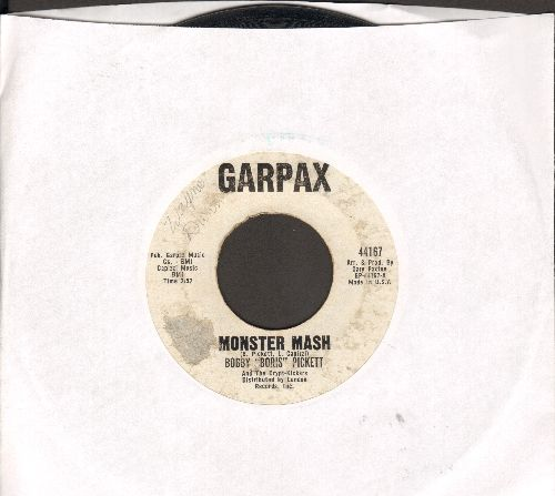 Pickett, Bobby (Boris) - Monster Mash/Monster's Mash Party (White Garpax Label first issue, wol) - VG6/ - 45 rpm Records