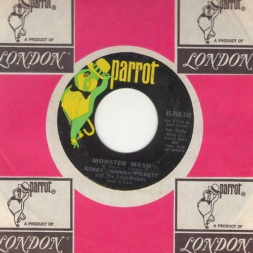 Pickett, Bobby (Boris) & The Crypt Kickers - Monster Mash/Monster Mash Party (Parrot label with company sleeve) - NM9/ - 45 rpm Records
