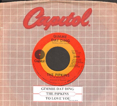 Pipkins - Gimme Dat Ding (Theme from Benny Hill Show)/To Love You (with juke box label and Capitol company sleeve) - EX8/ - 45 rpm Records