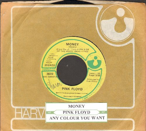 Pink Floyd - Money/Any Colour You Want (with juke box label and Harvest company sleeve) - EX8/ - 45 rpm Records