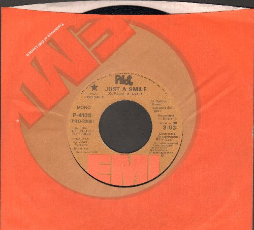 Pilot - Just A Smile (double-A-sided DJ advance pressing with EMI company sleeve) - NM9/ - 45 rpm Records