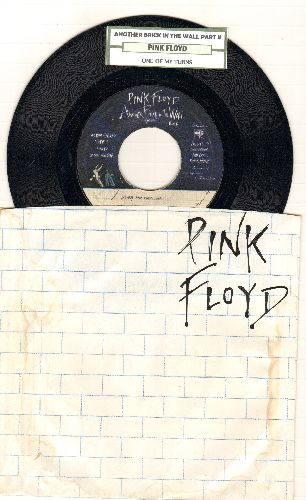 Pink Floyd - Another Brick In The Wall/One Of My Turns (with juke box label and RARE picture sleeve) - EX8/VG6 - 45 rpm Records