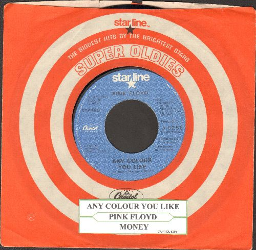 Pink Floyd - Any Colour You Like/Money (re-issue with Capitol company sleeve and juke box label) - EX8/ - 45 rpm Records