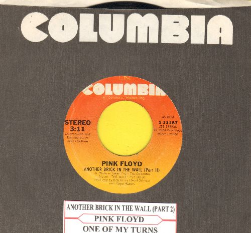 Pink Floyd - Another Brick In The Wall (Part 2)/One Of My Turns (with Columbia company sleeve and juke box label) - EX8/ - 45 rpm Records