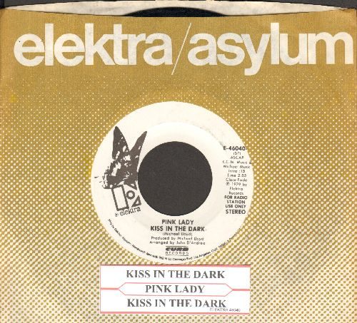 Pink Lady - Kiss In The Dark (RARE double-A-sided DJ advance pressing with juke box label and company sleeve)   - NM9/ - 45 rpm Records