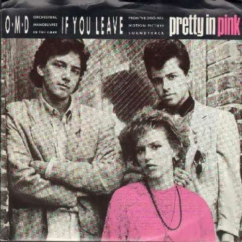 Orchestral Manouvers In The Drark - If You Leave (from film -Pretty In Pink-) (double-A-sided DJ advance copy with picture sleeve) - NM9/VG7 - 45 rpm Records