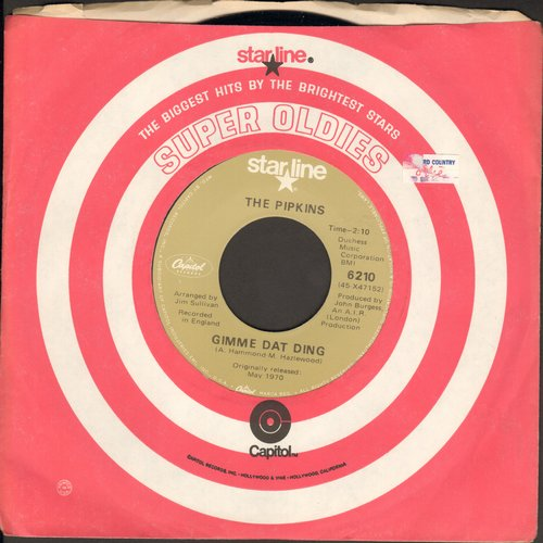 Pipkins - Gimme Dat Ding (Theme from Benny Hill Show)/Neanderthal Man by Hotlegs on flip-side) (re-issue) - M10/ - 45 rpm Records