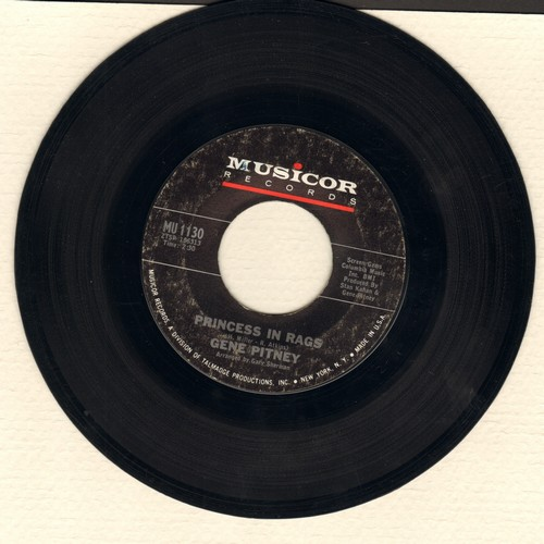 Pitney, Gene - Princess In Rags/Amore Mio  - EX8/ - 45 rpm Records