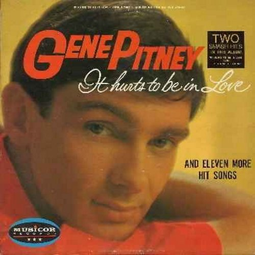 Pitney, Gene - It Hurts To Be In Love: Lips Are Redder On You, I'm Gonna Be Strong, Walk, Follow The Sun, The Girl Belongs To yesterday (Vinyl STEREO LP record) - EX8/EX8 - LP Records