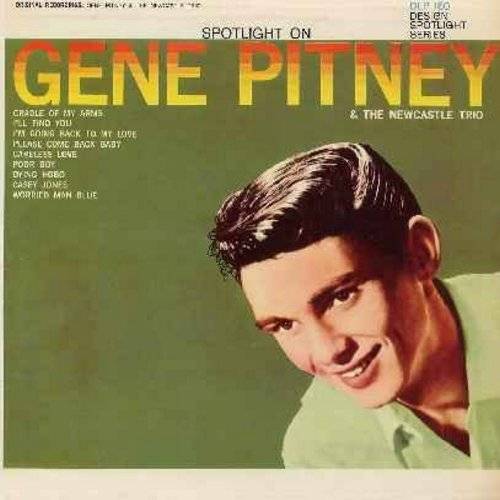 Pitney, Gene - Spotlight On Gene Pitney (& The Newcastle Trio): I'll Find You, Casey Jones, Cradle Of My Arms, Please Come Back Baby (Vinyl MONO LP record, 1962 first issue) - NM9/EX8 - LP Records